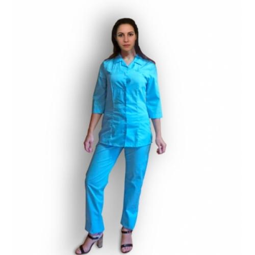 Медицинский костюм Елена (василёк без белого)