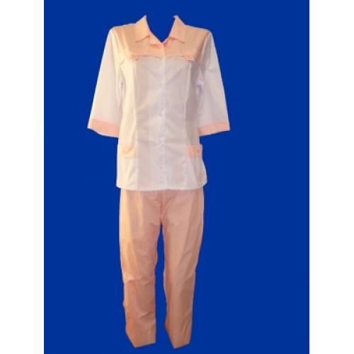 Медицинский костюм Василиса (розовый)