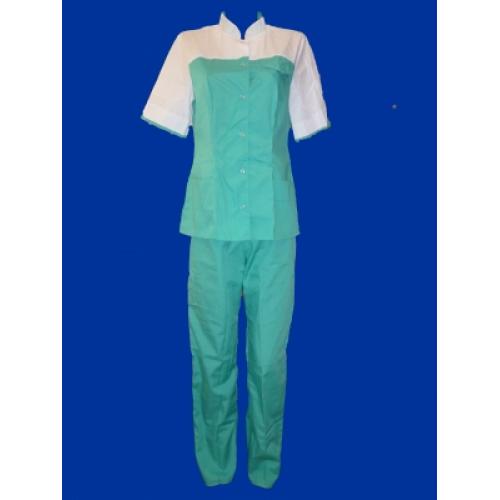 Медицинский костюм Марго (зелённый)