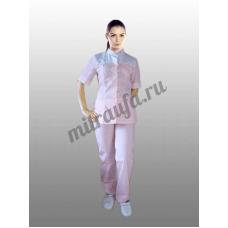 Медицинский костюм Марго (розовый)
