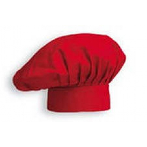 Головной убор для повара красный (ромашка).