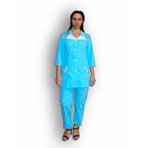 Медицинский костюм М-187 (василёк)