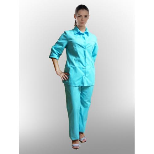 Медицинский костюм Елена (бирюза)