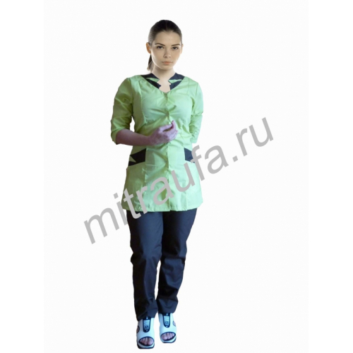 Медицинский костюм Вера (лайм)