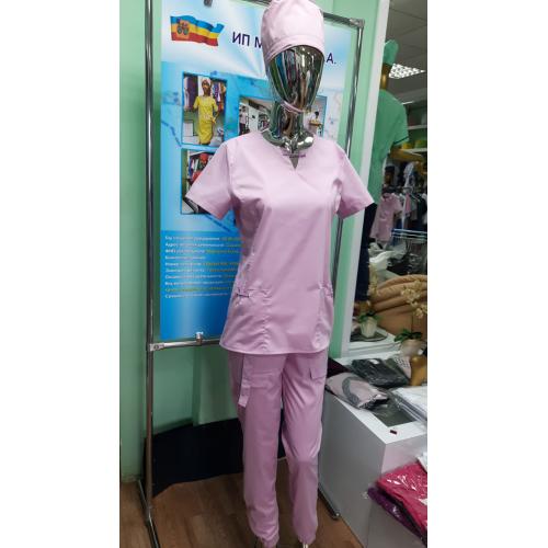 Костюм медицинский Ника (розовый)