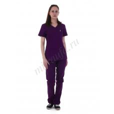 Костюм медицинский Магнолия Спандекс (фиолет)