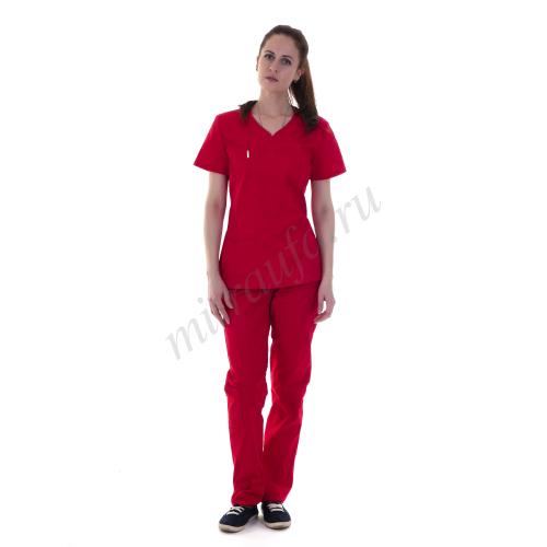 Костюм медицинский Магнолия Спандекс (красный)